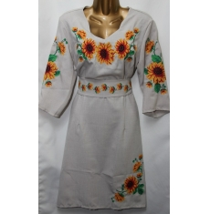 Платье вышитое женское оптом Батал 14071353 056