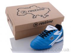 Футбольная обувь, Restime оптом DD020125-1 skyblue-black-white