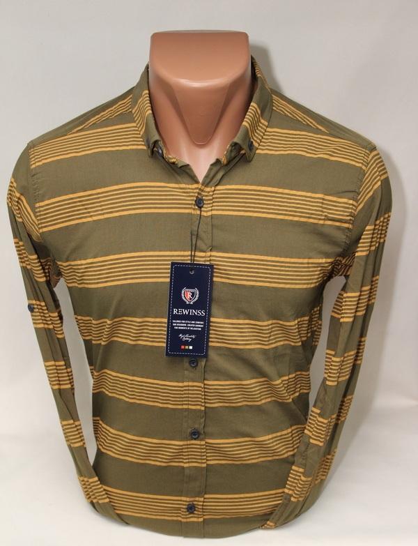 Рубашки мужские  оптом 38719642 9361-9