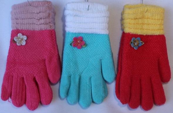 Перчатки детские ( на девочек ) оптом 90785263 7108 3014-1