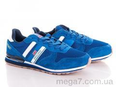 Кроссовки, Veer-Demax оптом 8904-2 blue-white