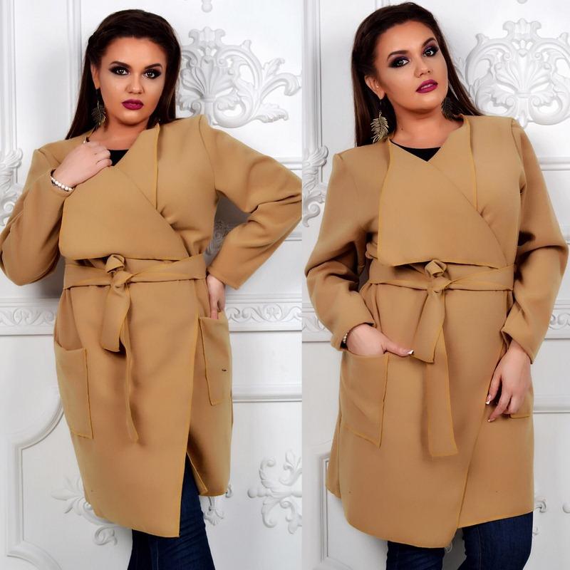 Пальто женские БАТАЛ оптом 48315602 015-2