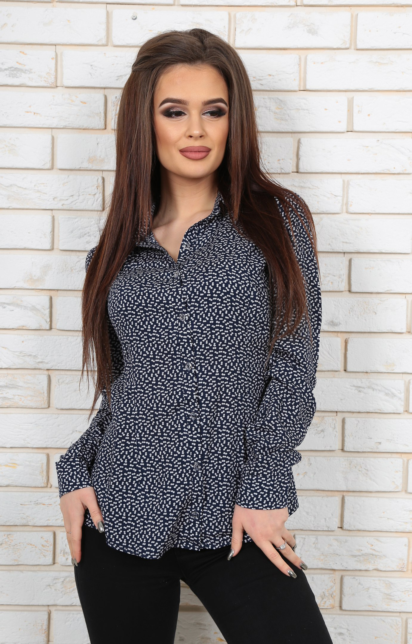 Рубашка женская оптом 28025022 46-2