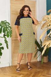Платья женские БАТАЛ оптом 56103427 03-10