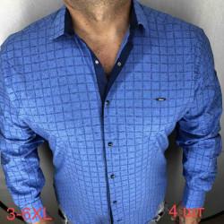 Рубашки мужские PAUL SEMIH ПОЛУБАТАЛ оптом 48169302 04-97