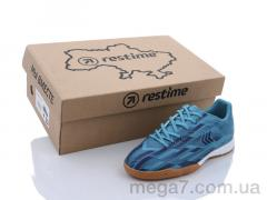 Футбольная обувь, Restime оптом DDB21419 cyan-navy