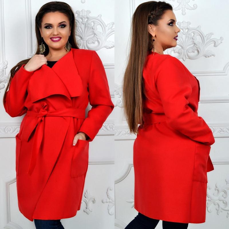 Пальто женские БАТАЛ оптом 24095540 015-3