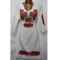 Платье вышитое женское оптом Батал 14071353 050