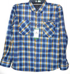 Рубашки мужские HETAI на флисе оптом 63078245 А640-72