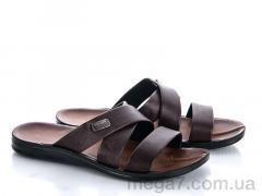 Шлепки, Makers Shoes оптом 3310 коричневый