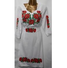 Платье вышитое женское оптом Батал 14071353 053