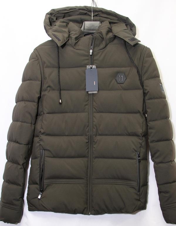 Куртки мужские оливковые оптом 29645873 7-4-39