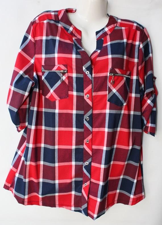 Рубашки женские БАТАЛ оптом 48519607 121 50-1