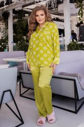 Ночные пижамы  женские БАТАЛ оптом 24085931 17-1