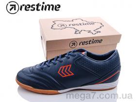 Футбольная обувь, Restime оптом DMB19703 navy-r.orange