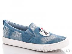 Слипоны, Sali shoes оптом WL12-13 l.blue