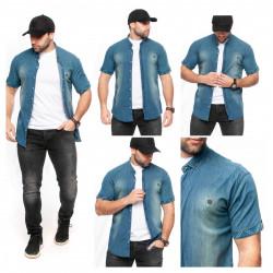 Рубашки мужские БАТАЛ  оптом 09382175 Б-45
