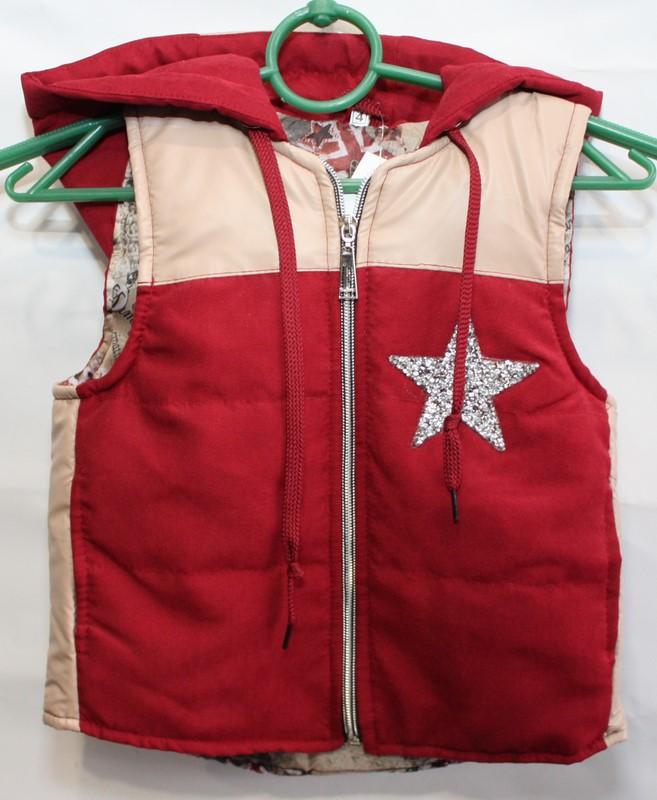 Жилетки детские с капюшоном Турция оптом 43289176 1014-1