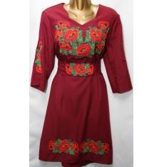 Платье вышитое женское оптом Батал 14071353 052