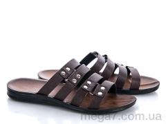 Шлепки, Makers Shoes оптом 3320 коричневый