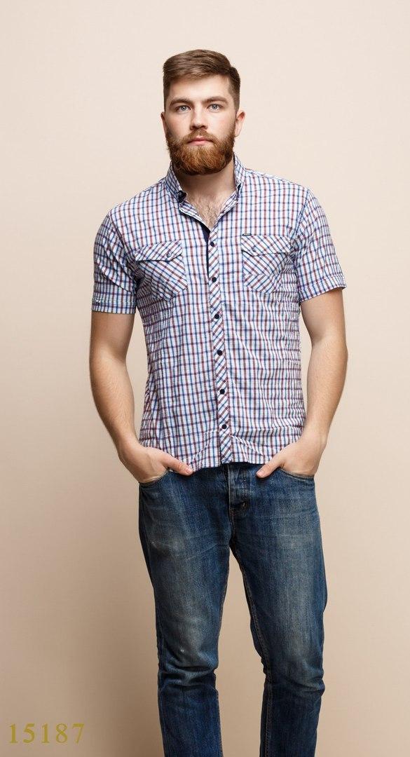Рубашки мужские Турция оптом  120613315187