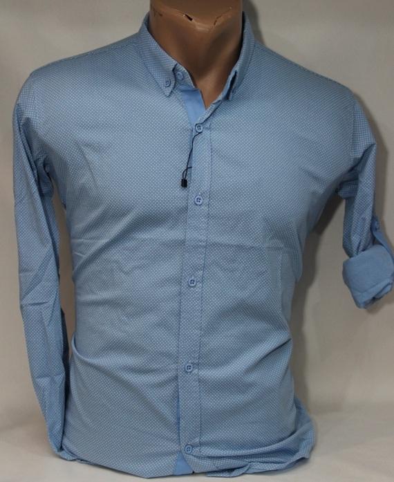 Рубашки мужские Турция оптом 62183754 002-3