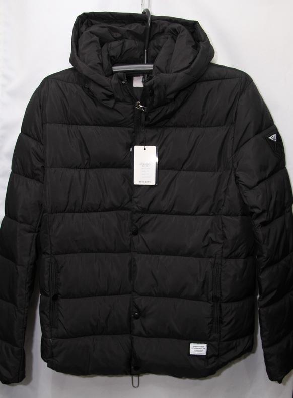 Куртки мужские зимние чёрные H.F.X.F оптом 21875340 707-15