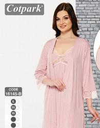 Ночные рубашки женские (2-ка) COTPARK БАТАЛ оптом 15749680 16145B-10
