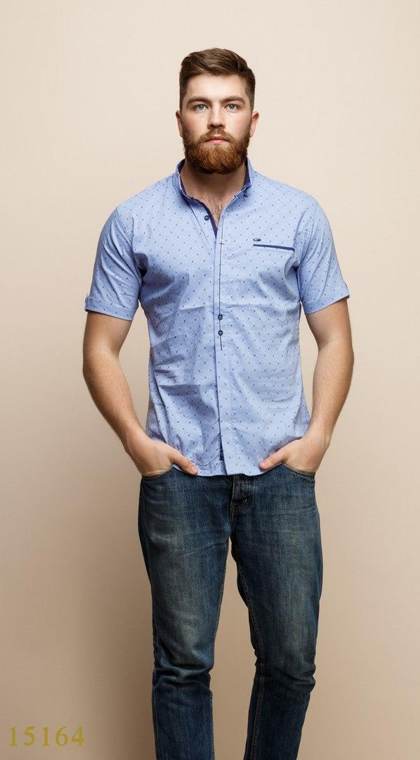 Рубашки мужские Турция оптом  1206133 15164