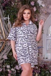 Платья женские БАТАЛ оптом 23874196 1-9