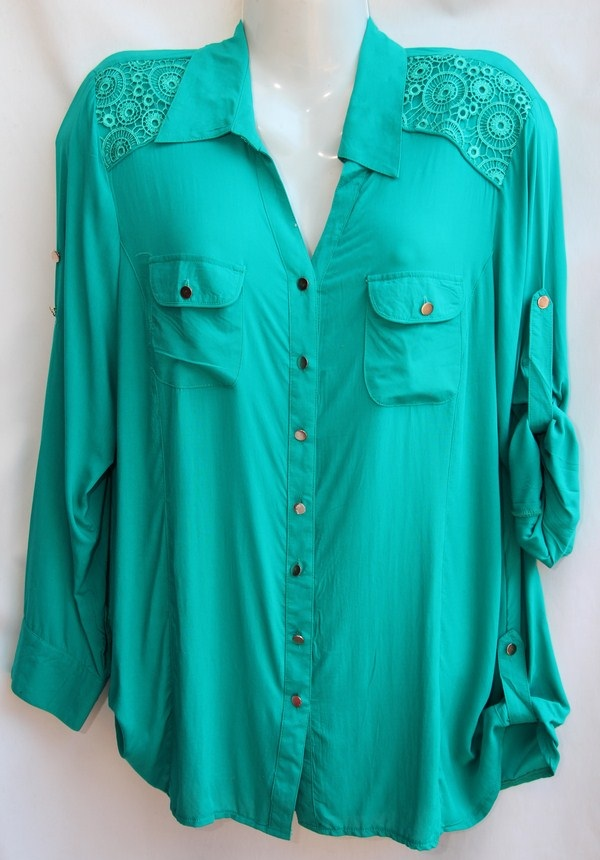 Рубашки женские оптом 23031803 4023-7