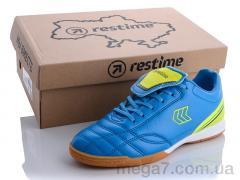 Футбольная обувь, Restime оптом DW020313 sky blue-navy-lime