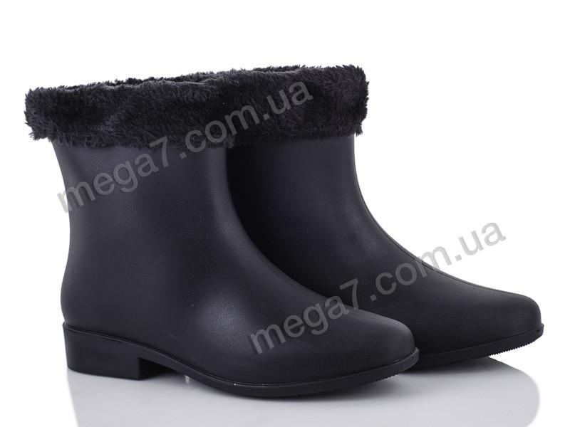 Резиновая обувь, Class Shoes оптом G01Y черный мех