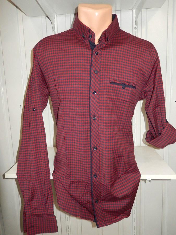 Рубашка мужская оптом 09526734  1308-3