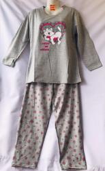 Ночные пижамы женские на байке БАТАЛ оптом 64370895 B35-28