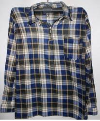 Рубашки мужские TIANLEFU на байке оптом 02864795 22-79