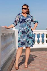 Платья женские БАТАЛ оптом 75610294 01-3