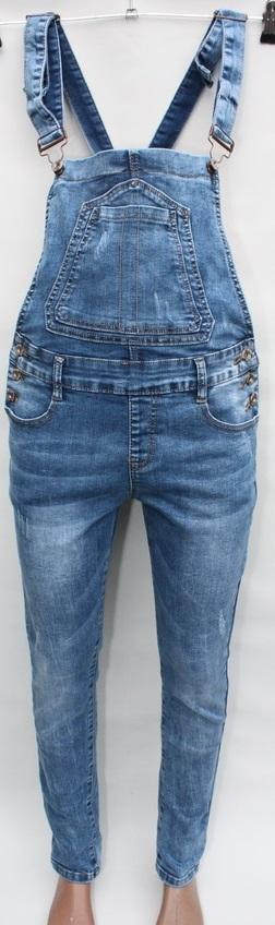 Комбинезоны джинсовые женские оптом 53960742 6279