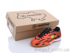 Футбольная обувь, Restime оптом DDB21419 black-orange