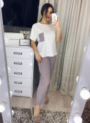 Пижамы (3ка) женские БАТАЛ оптом 02741936  1173-1