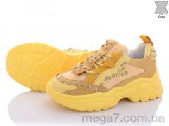 Кроссовки, Diana оптом Натур.кожа с камнями желтые АКЦИЯ