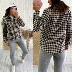 Рубашки женские на байке оптом 26045318 3094-18