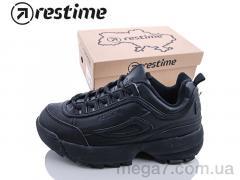 Кроссовки, Restime оптом XWO18106 black