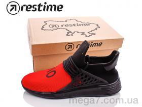 Кроссовки, Restime оптом PWL19552 red-black