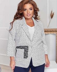 Пиджаки женские БАТАЛ оптом 39215760 09 -19