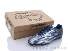 Футбольная обувь, Restime оптом DMB21419-1 navy-silver