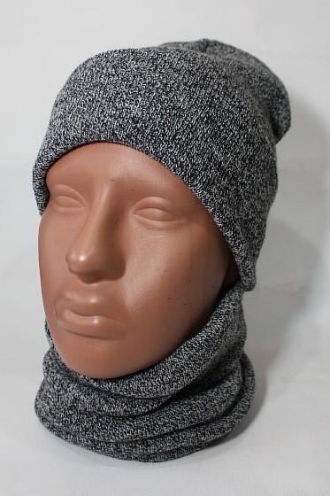 Наборы шапка шарф мужские оптом 82037491 3464-37