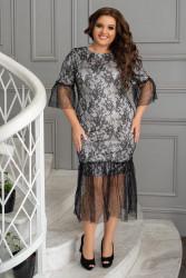 Платья женские БАТАЛ оптом 08254631 001-6