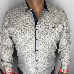 Рубашки мужские ПОЛУБАТАЛ оптом 09674385 08-45