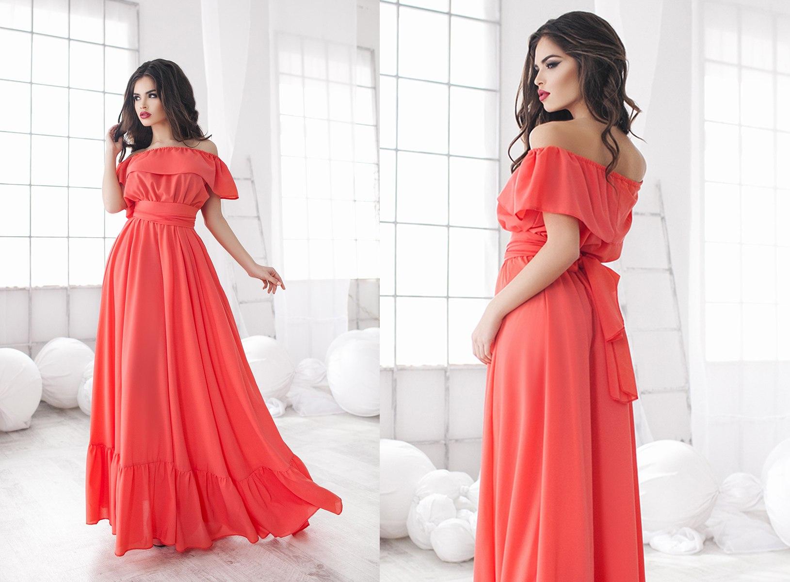 Фото платьев в пол элегантных